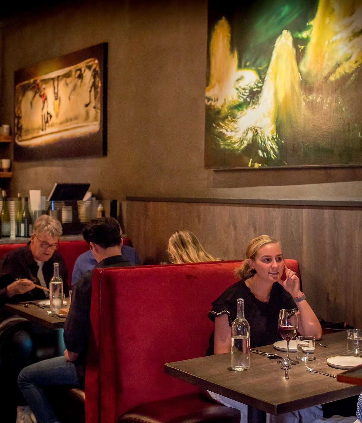 People have dinner at Madcap in San Anselmo, Calif., on October 20th, 2017.