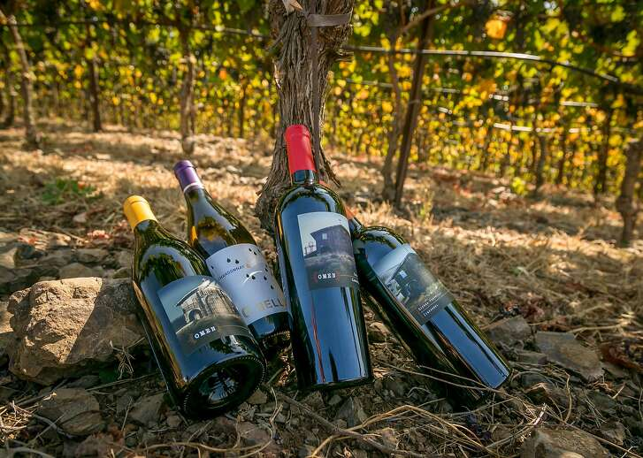 The wines of the Atlas Wine Company in Napa, Calif., are seen on October 3rd, 2017.