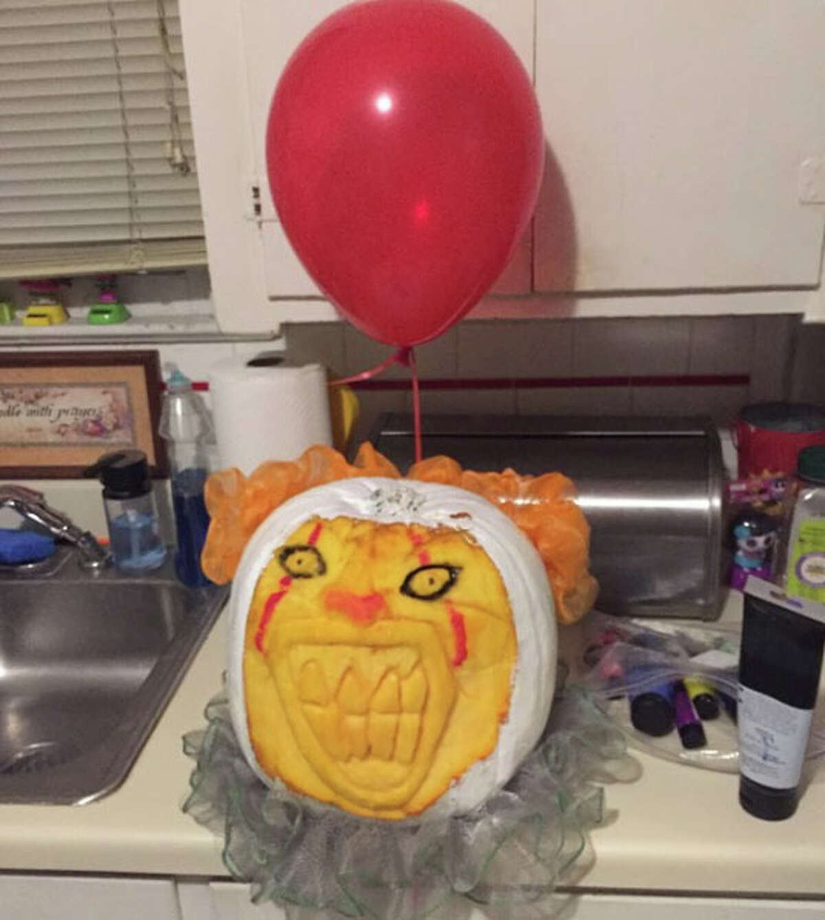 From frightening clowns to super heroes and other twisted, haunting creations, readers shared their best, spookiest designs in the 2017 San Antonio Express-News/mySA.com Pumpkin Carving Contest.