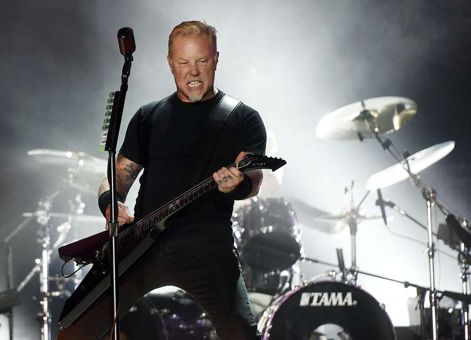James Hetfield and Metallica are among the acts scheduled to perform in the Band Together Bay Area benefit concert. Photo: Chris Pizzello, Associated Press