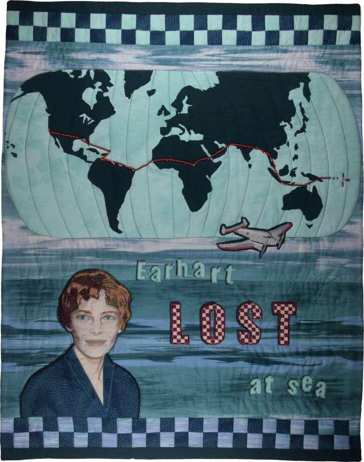 """Final Flight,"" by Linda MacDonald, honoring Amelia Earhart"