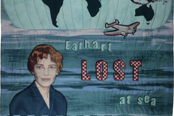"""Final Flight,"" by Linda MacDonald, honoring Amelia Earhart"