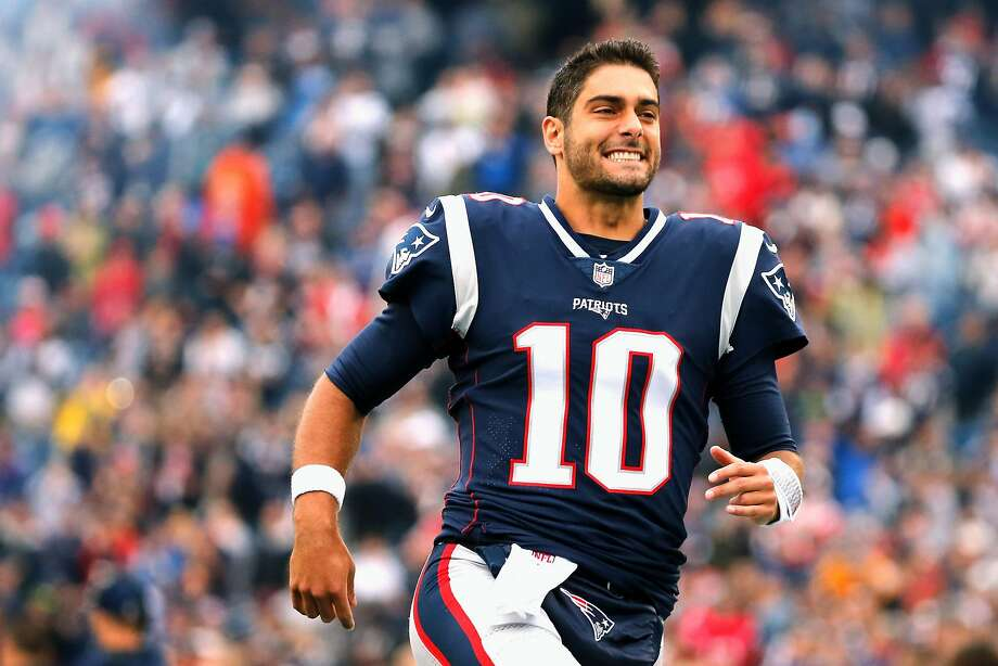 Jimmy Garoppolo made two starts, winning both, while Tom Brady served his Deflategate suspension last season. Photo: Jim Rogash, Getty Images
