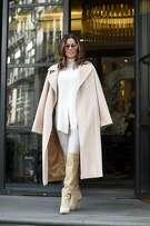 Eva Longoria wears Max Mara's Manuela coat.
