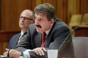 Anthony Annucci, commissioner of the New York State Department of Corrections and Community Supervision addresses members of the assembly as he testified before the Assembly Committee on Health and the Assembly Committee on Corrections during a public hearing on health care in correctional facilities on Monday, Oct. 30, 2017, in Albany, N.Y.    (Paul Buckowski / Times Union)