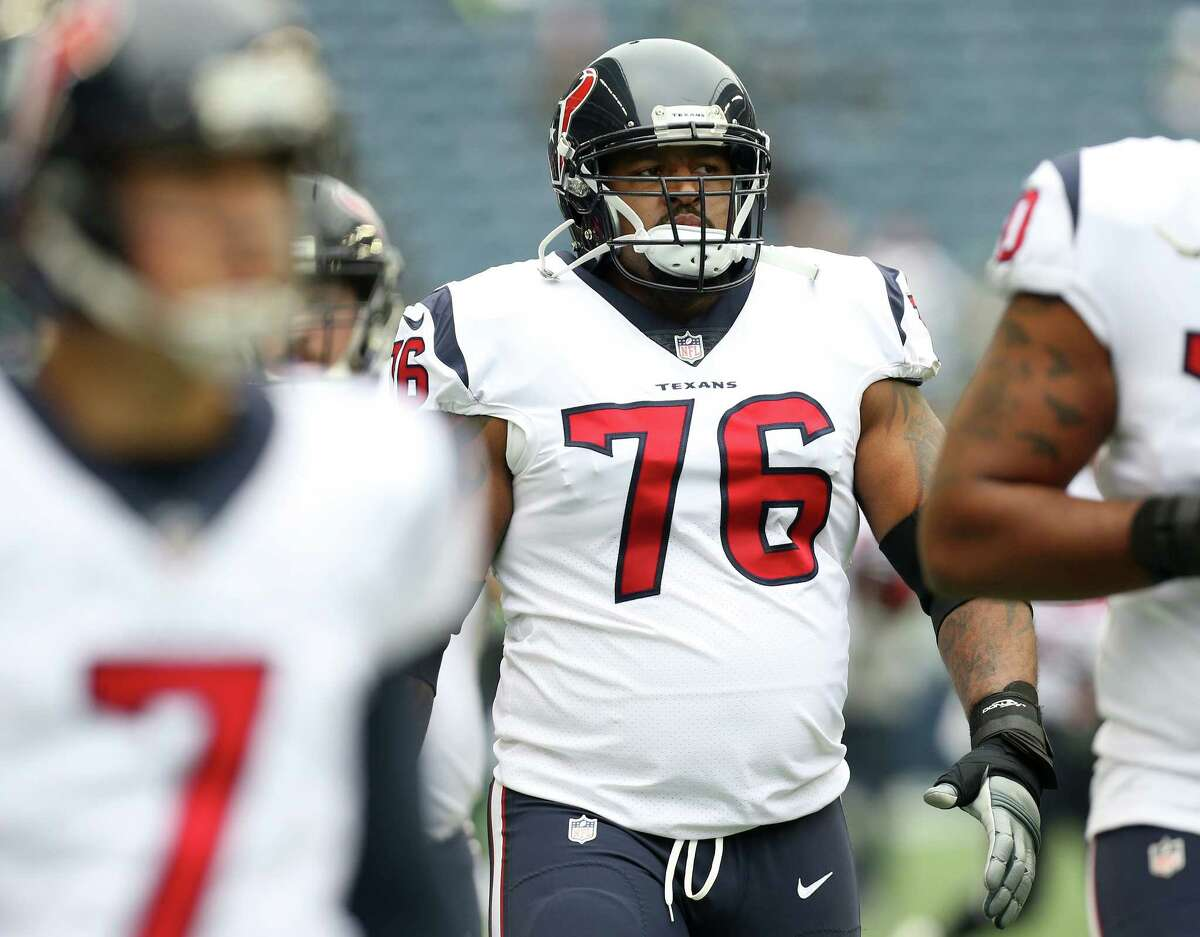 Offensive tackle Duane Brown missed the Texans' first six games this season and was docked $3.8 million in game checks while holding out because of a contract dispute with the team.