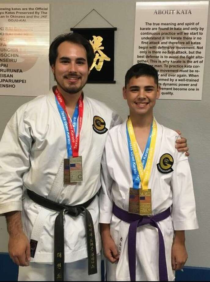 Ernesto Salinas has been the sensei to Charlie Martinez for three years and became his godfather a year ago. Photo: Courtesy Photo