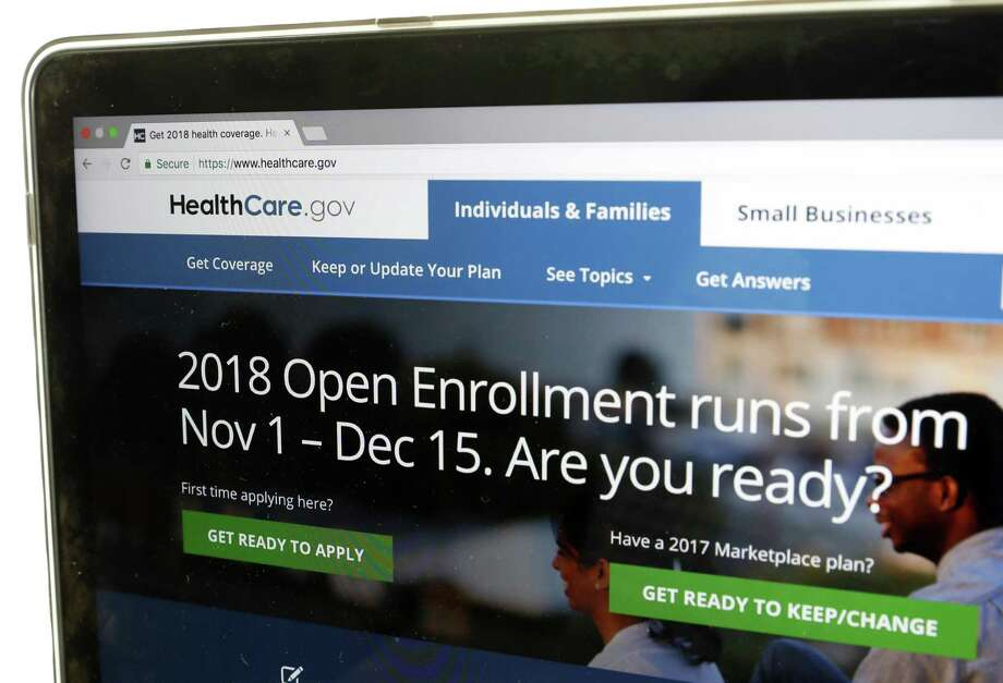 The Healthcare.gov website is seen on a computer screen Wednesday, Oct. 18, 2017, in Washington. The Trump administration says consumers can start previewing plans and premiums online for health insurance under the Affordable Care Act in 2018. Open enrollment starts Nov. 1.  (AP Photo/Alex Brandon) Photo: Alex Brandon / Associated Press / Copyright 2017 The Associated Press. All rights reserved.