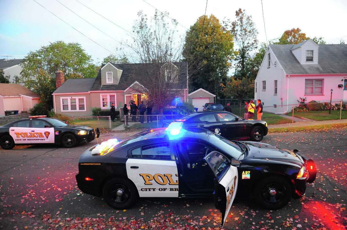 The Bridgeport Police Department in Bridgeport, Conn. on the scene of a call.