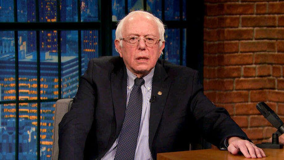"Senator Bernie Sanders on ""Late Night with Seth Meyers"" Photo: Late Night With Seth Meyers"