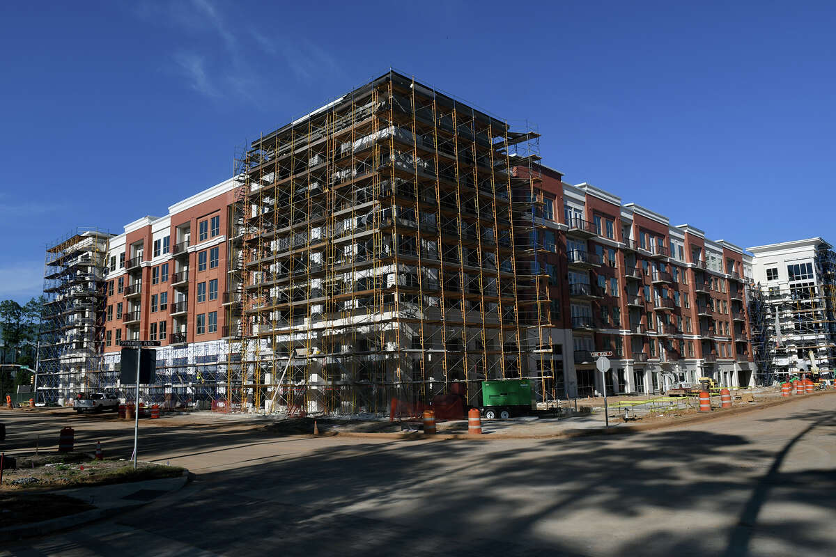 In Spring, apartment communities continue to develop in the master planned community of Springwoods Village, including The Mark City Place apartments, above, shown under construcåtion.