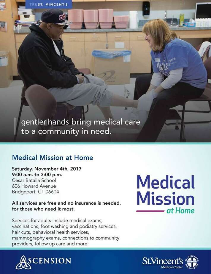 St. Vincent's Medical Center in Bridgeport will sponsor its Medical Mission at Home Saturday, Nov. 4. Image courtesy of St. Vincent's. Photo: Contributed / Contributed