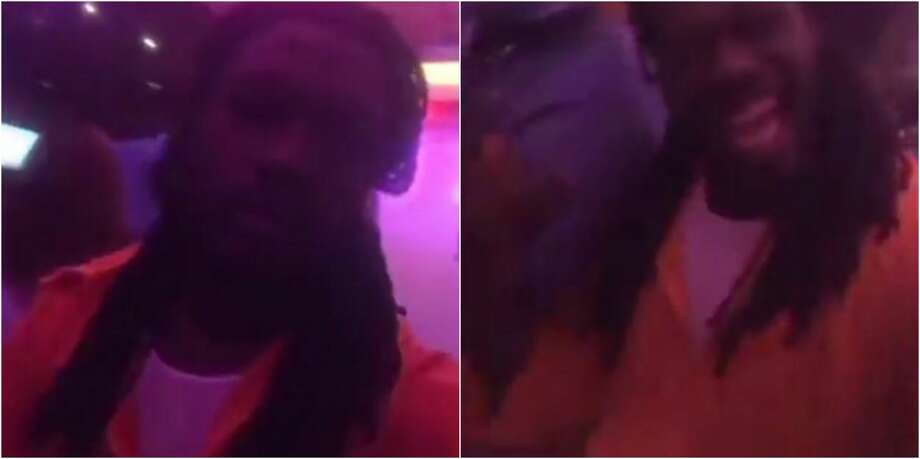 """A short video appears to show Texans linebacker Jadeveon Clowney wearing a prison jumpsuit to a Halloween party. The costume choice follows comments made by team owner Bob McNair during a close-door NFL meeting in which he claimed, """"We can't have the inmates running the prison."""" Photo: TMZ"""