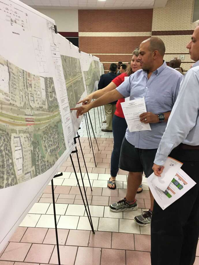 Grand Lakes resident Mitch Abahusayn, center, says noise levels are a problem with current traffic on Texas 99 between Interstate 10 and the Westpark Tollway. Photo: Karen Zurawski