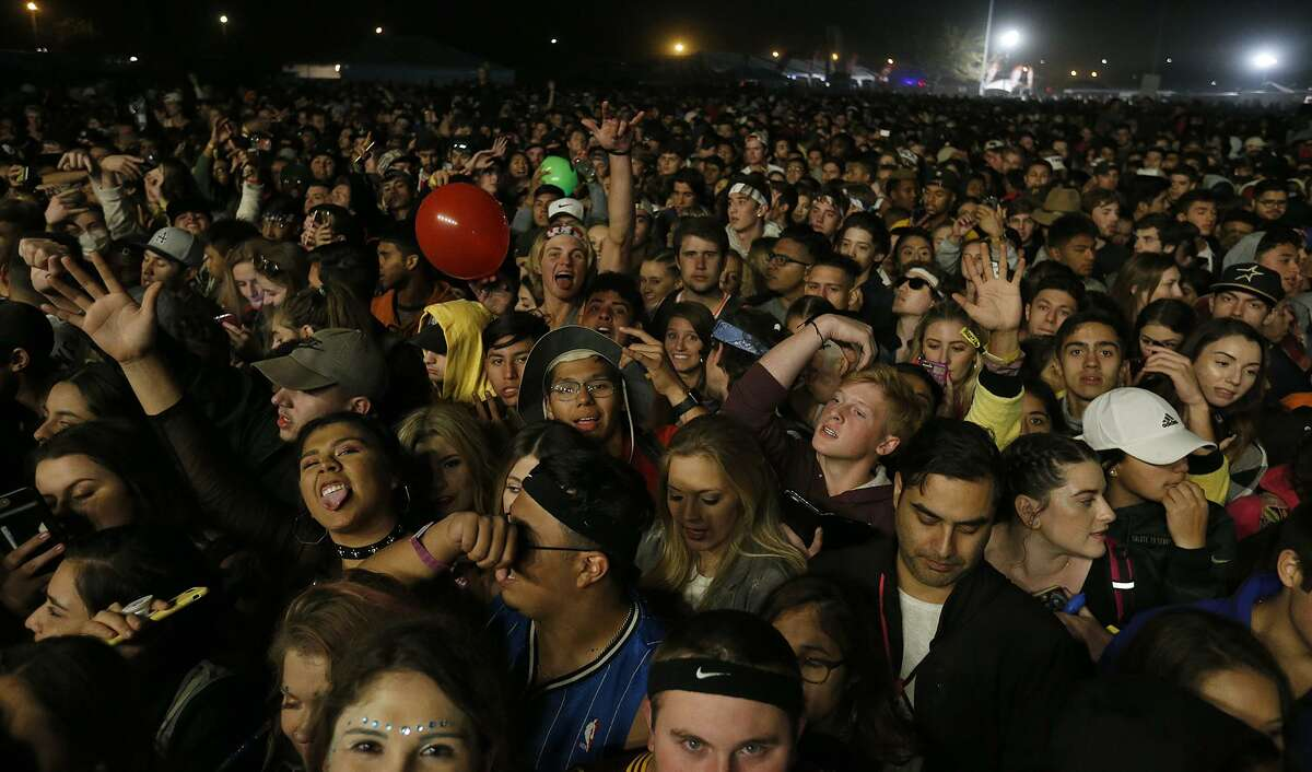 Fans wait for Lil Wayne to perform during the the Mala Luna Music Festival held Saturday Oct. 28, 2017 at Nelson W. Wolff Municipal Stadium.