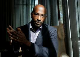 """CNN political commentator, author and activist Van Jones, has a new recently released book """"beyond the Messy Truth"""". Jones poses for a portrait in San Francisco, Ca. on Monday October 23, 2017."""