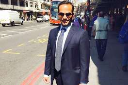 """This undated image posted on his Linkedin profile shows George Papadopoulos posing on a street of London.    Former Trump campaign aide, George Papadopoulos, pleaded guilty to lying to the FBI about his Kremlin-related contacts, and more specifically on a Moscow-linked professor who was offering """"dirt"""" on Trump's election rival Hillary Clinton. / AFP PHOTO / LINKEDIN / - / RESTRICTED TO EDITORIAL USE - NO MARKETING - NO ADVERTISING CAMPAIGNS - DISTRIBUTED AS A SERVICE TO CLIENTS   -/AFP/Getty Images"""