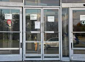 Entrance to the former KMart on Columbia Turnpike Tuesday Oct. 31, 2017 in East Greenbush, NY. Site is to be redeveloped into a training facility, a $15 million project. (John Carl D'Annibale / Times Union)