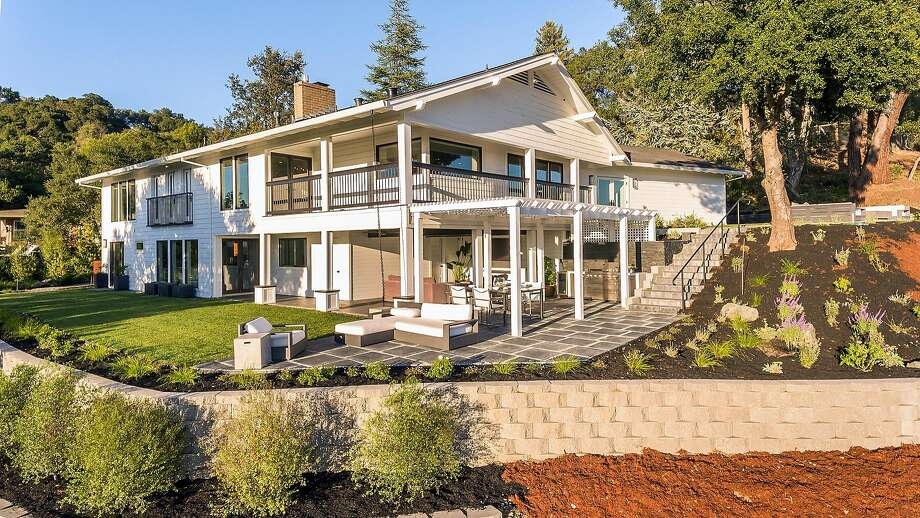 The Healdsburg home features a wraparound deck on its upper level. Photo: Vanguard Properties