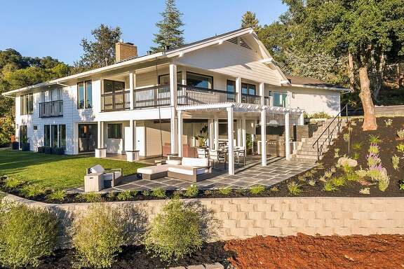 The Healdsburg home features a wraparound deck on its upper level.