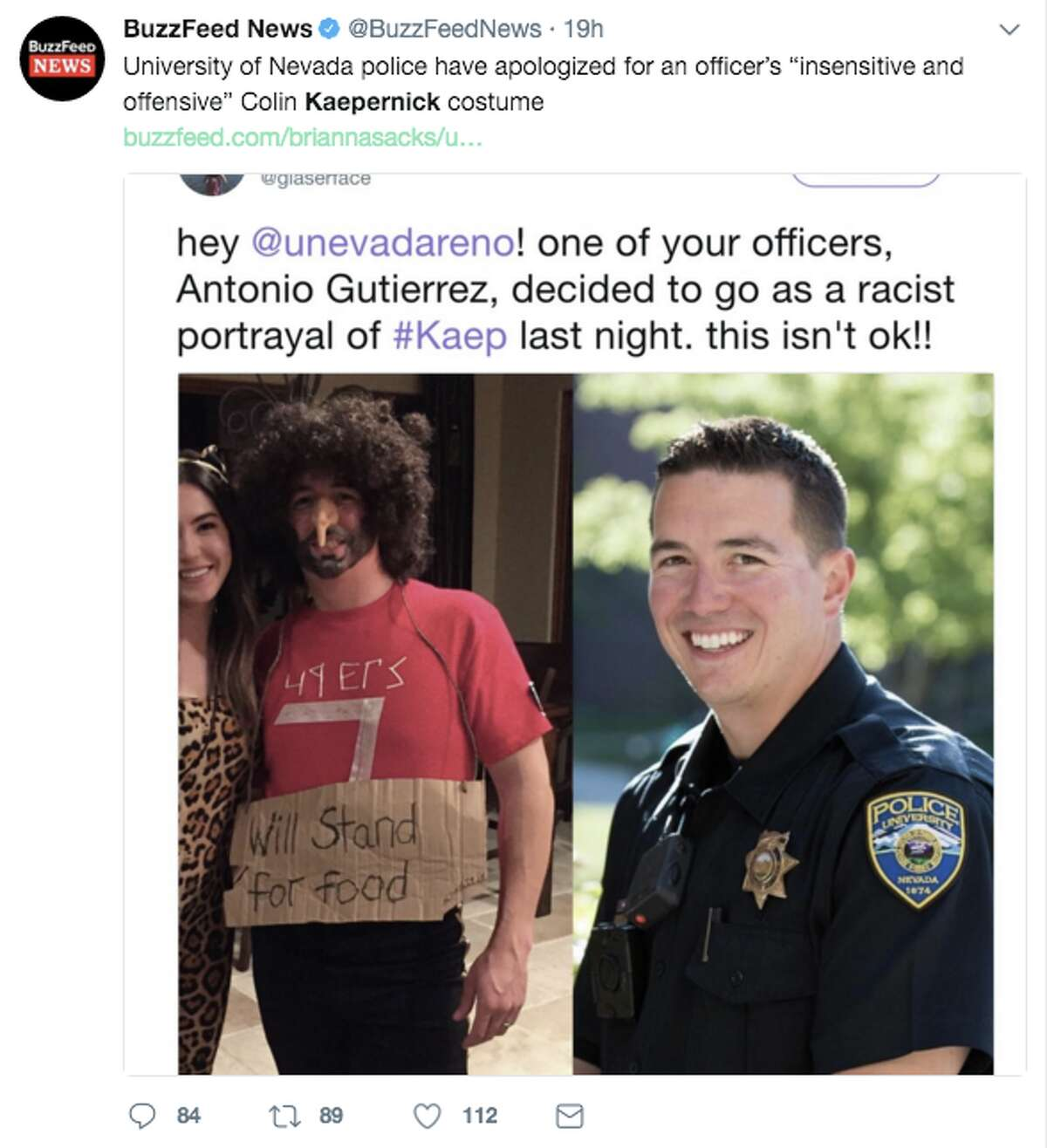 People dressed as Colin Kaepernick for Halloween, and some faced controversy for their costumes.
