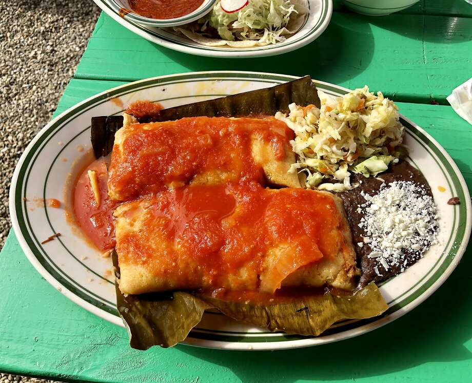 El Molino Central: Tamales filled with beef and pork. Photo: Michael Bauer, The Chronicle