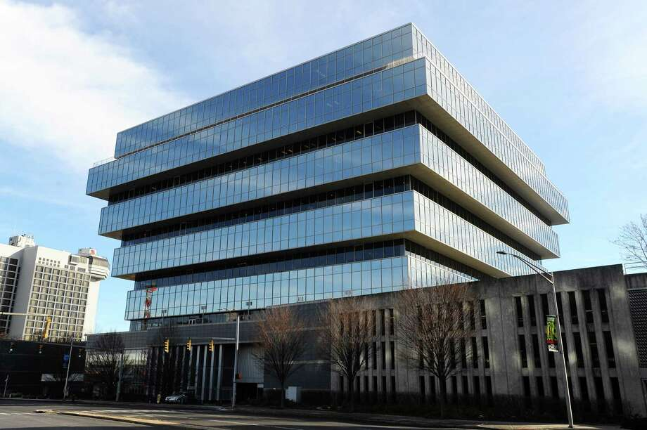 Purdue Pharma's headquarters are located at 201 Tresser Blvd., in downtown Stamford. Photo: Michael Cummo / Hearst Connecticut Media / Stamford Advocate