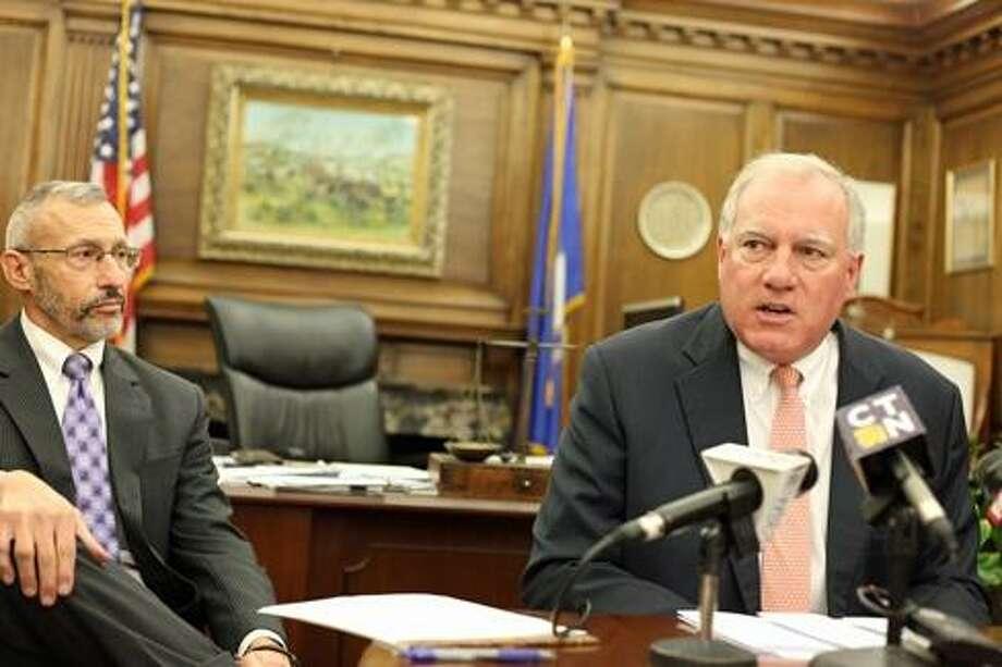 Attorney General George Jepsen and Assistant Attorney General Michael Cole. Photo: Christine Stuart / CTNewsJunkie