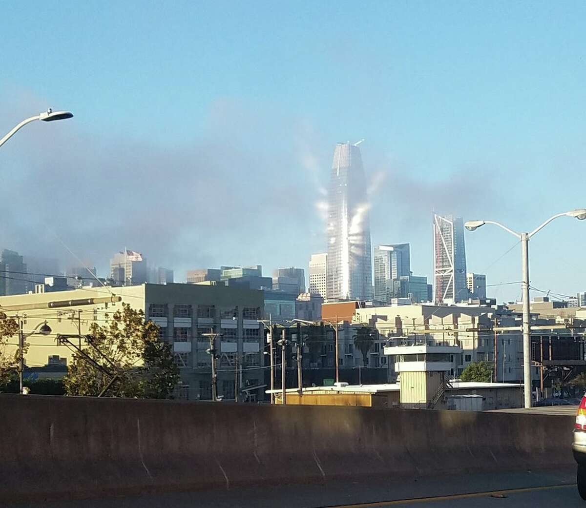Sunlight diffused by fog created this effect last weekend on the new Salesforce Tower in downtown San Francisco.