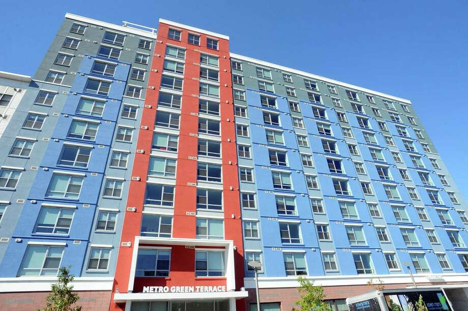 The new Metro Green Terrace apartment complex has opened at 695 Atlantic St., in Stamford, Conn. Photo: Michael Cummo / Hearst Connecticut Media / Stamford Advocate