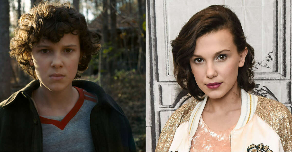 """Continue through the photos to see the main case of """"Stranger Things 2"""" on set and in real life."""