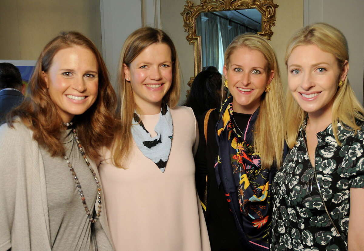 From let: Sarah Jane Howell, Cassie Milam, Alice Lodje and Whitney Gordon at he Houston Botanic Garden's Botanical Beginnings Luncheon at the River Oaks Country Club Tuesday Oct. 31, 2017.(Dave Rossman Photo)