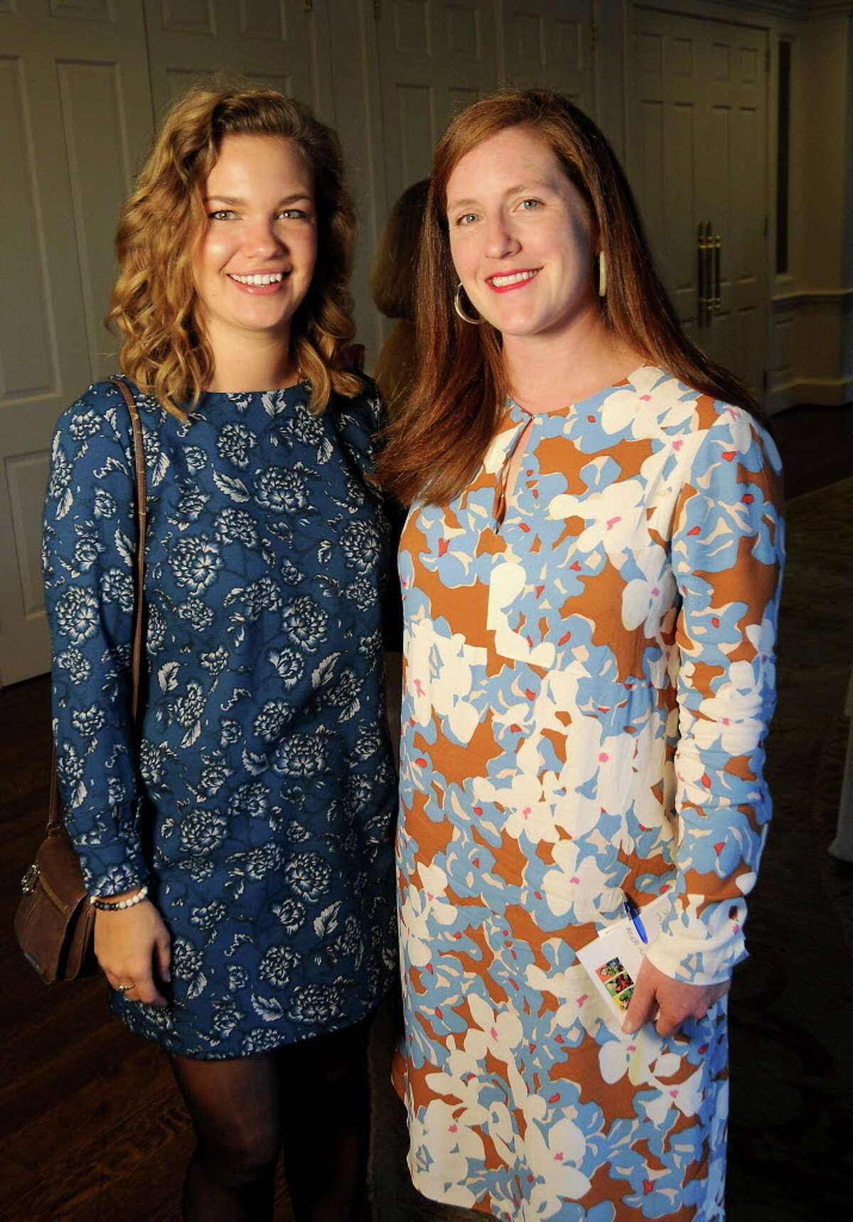 Sarah Devries and Claire Agre at he Houston Botanic Garden's Botanical Beginnings Luncheon at the River Oaks Country Club Tuesday Oct. 31, 2017.(Dave Rossman Photo)