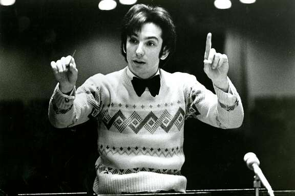 April 13, 1976: Michael Tilson Thomas conducts in 1974.