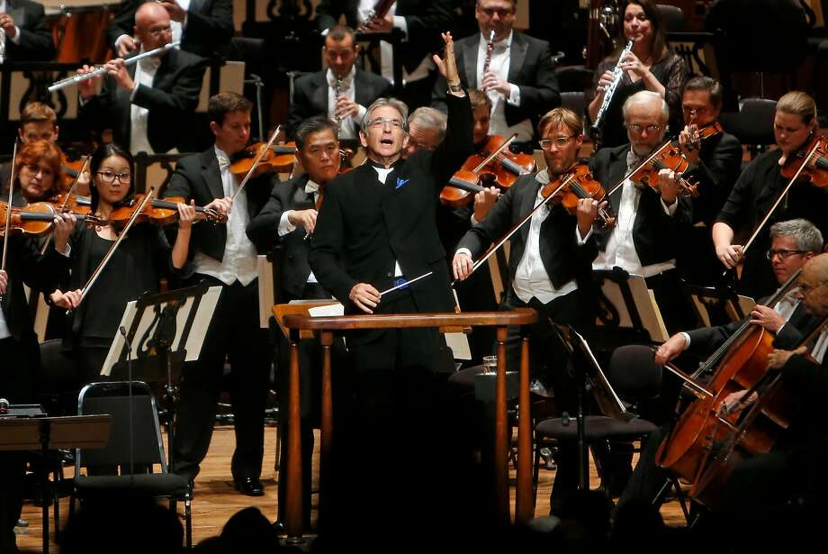 Michael Tilson Thomas will condct a benefit concert with the San Francisco Symphony on Nov. 19 to aid North Bay fire victims. Photo: Scott Strazzante, The Chronicle
