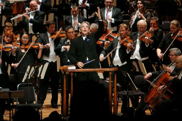 Michael Tilson Thomas conducts during San Francisco Symphony Opening Night Gala in San Francisco, Calif., on Wednesday, September 7, 2016.