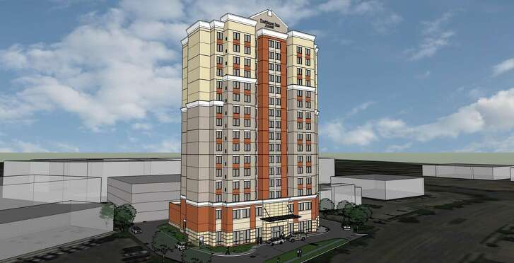 This rendering shows a Residence Inn by Marriott at 7807 Kirby, just south of Main Street near NRG Stadium. The 182-room extended-stay hotel is expected to open in early 2019.