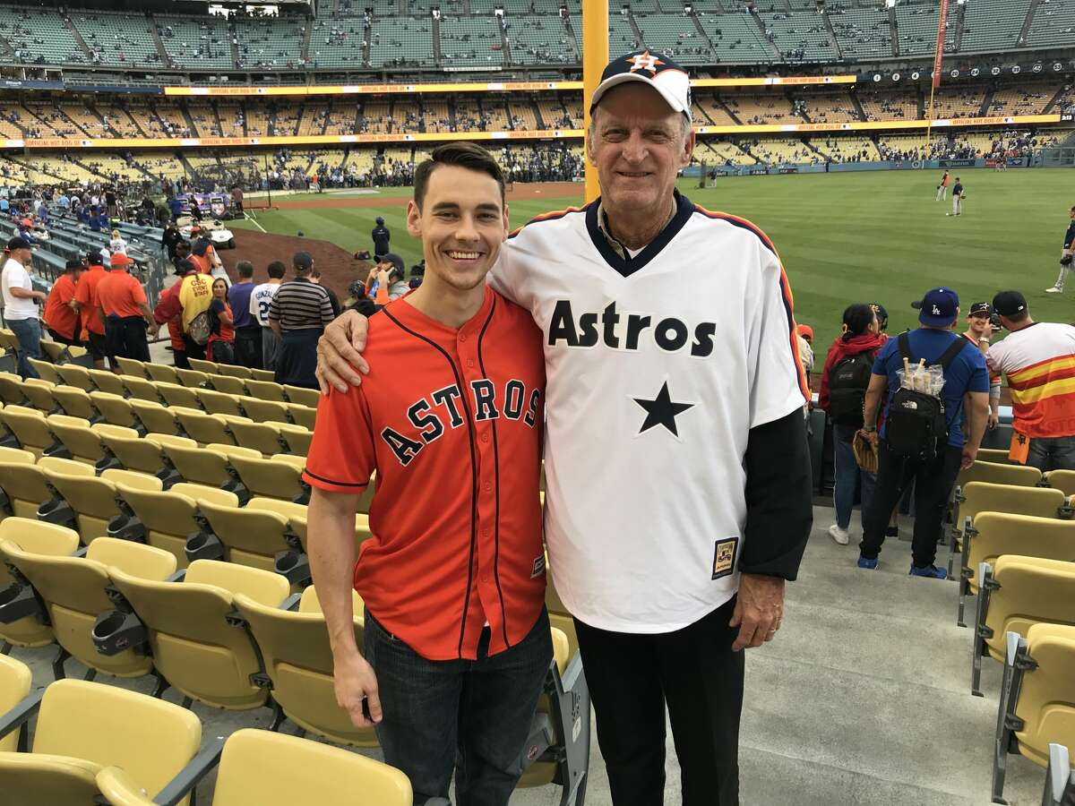 Nathan Rogers and his grandfather Alton McCarty flew into Los Angeles from Houston to watch the Astros play the Dodgers in Game 6.