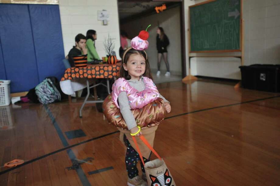 Winsted children and families came to The Gilbert School Tuesday evening for trick-and-treating and Halloween fun. Photo: Ben Lambert / Hearst Connecticut Media