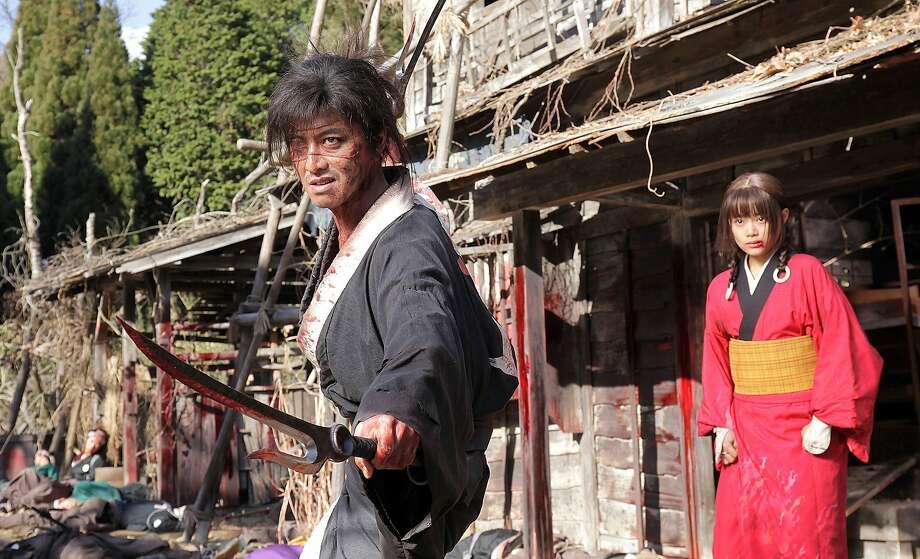 "Takuya Kimura andHana Sugisaki in Takashi Miike's ""Blade of the Immortal."" Photo: Magnet Releasing"