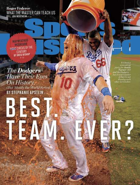 The Aug. 22, 2017 issue of Sports Illustrated begged the question of whether the 2017 Los Angeles Dodgers were the best team ever. Photo: Sports Illustrated