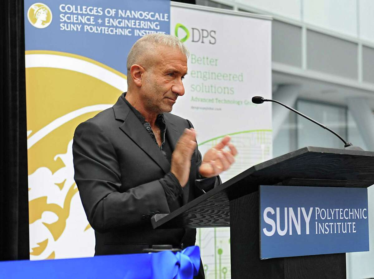Alain E. Kaloyeros, President and Chief Executive Officer of the SUNY Polytechnic Institute of the State University, speaks as SUNY Polytechnic Institute welcomes DPS Advanced Technology Group as the latest tenant at the ZEN building on Thursday, Nov. 19, 2015, in Albany, N.Y. (Lori Van Buren / Times Union archive)