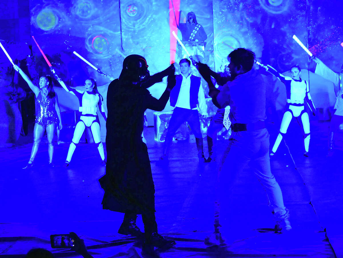 St. Augustine High School held their annual Halloween skit contest, Tuesday, October 31, 2017, at the school's Wellness Center. The Senior Class took top honors with their rendition of Star Wars.