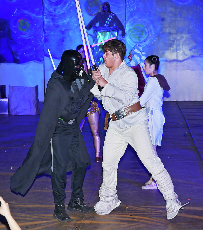 St. Augustine High School held their annual Halloween skit contest, Tuesday, October 31, 2017, at the school's Wellness Center. The Senior Class took top honors with their rendition of Star Wars. Photo: Cuate Santos/Laredo Morning Times