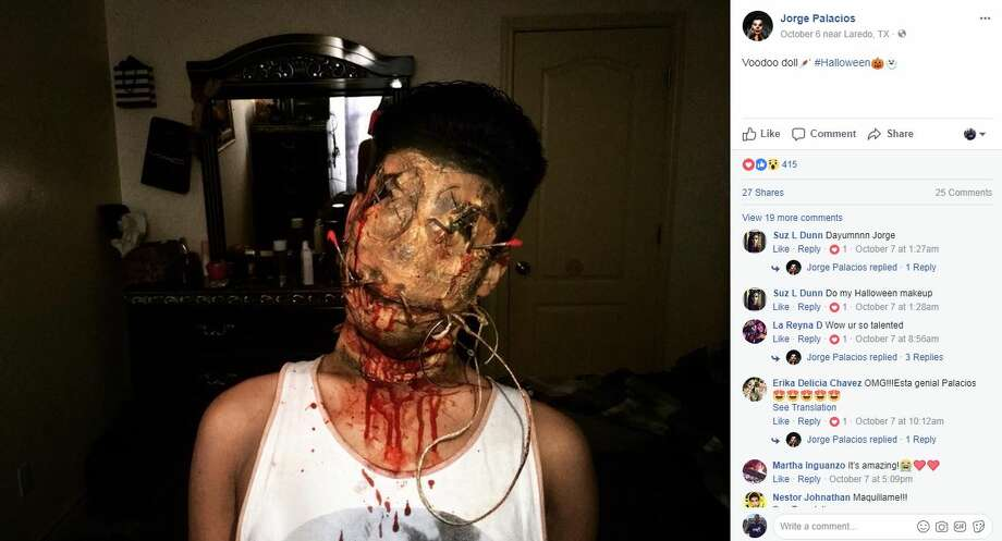 Laredoans took to social media to show off their incredible costumes for Halloween. Photo: Facebook