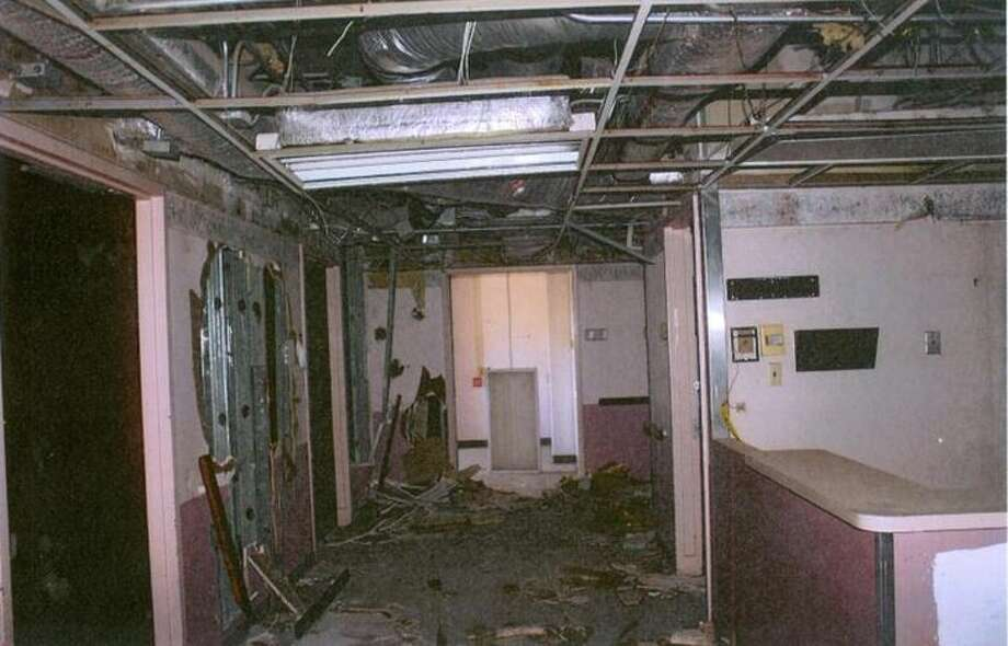 This photo taken by a Laredo Police Department investigator shows the deterioration of the interior of the Old Mercy Hospital.  Photo: Laredo Police Department