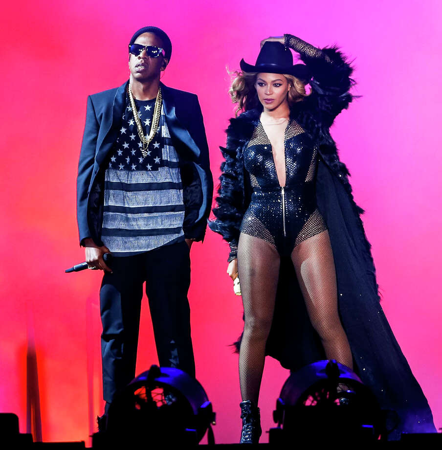 HOUSTON, TX - JULY 18: Beyonce and JAY Z perform on the On The Run Tour at the Minute Maid Park on Friday, July 18, 2014, in Houston, Texas. (Photo by Aaron M. Sprecher/PictureGroup). Photo: Aaron M. Sprecher, Stringer / Aaron M. Sprecher/PictureGroup