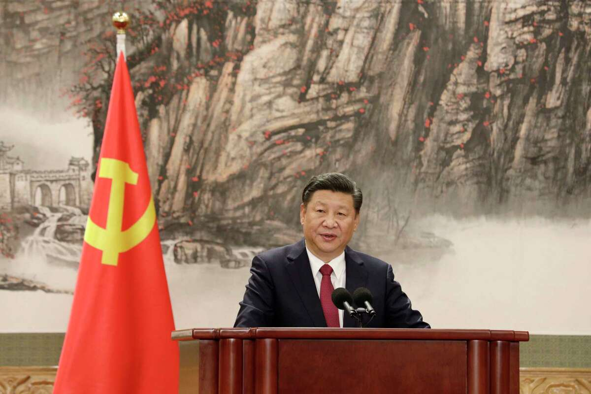Xi Jinping, China's president and general secretary of the Communist Party of China, in the East Hall of the Great Hall of the People in Beijing, China, on Oct. 25, 2017. MUST CREDIT: Bloomberg photo by Qilai Shen.