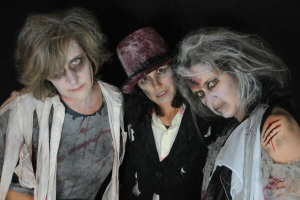 """For the second year, women in Fairfield dressed as zombies performed a  choreographed dance to Michael Jackson's Thriller on Halloween night  2017. The MOMbies, as they are called, raised nearly $3,000 online to  benefit cancer research. """"We dedicate this  project to a dear friend and fellow MOMbie, as well as to all of the  special people in each of our lives,"""" their CrowdRise.com page states.  Were you SEEN as a MOMbie?"""