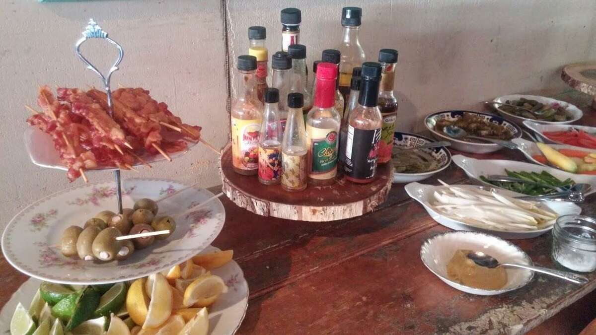 Bloody Mary bar at The Spread in SoNo.